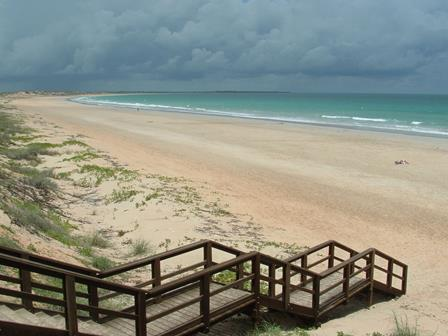 Storm clouds over Cable Beach