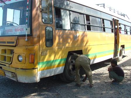 Bus puncture